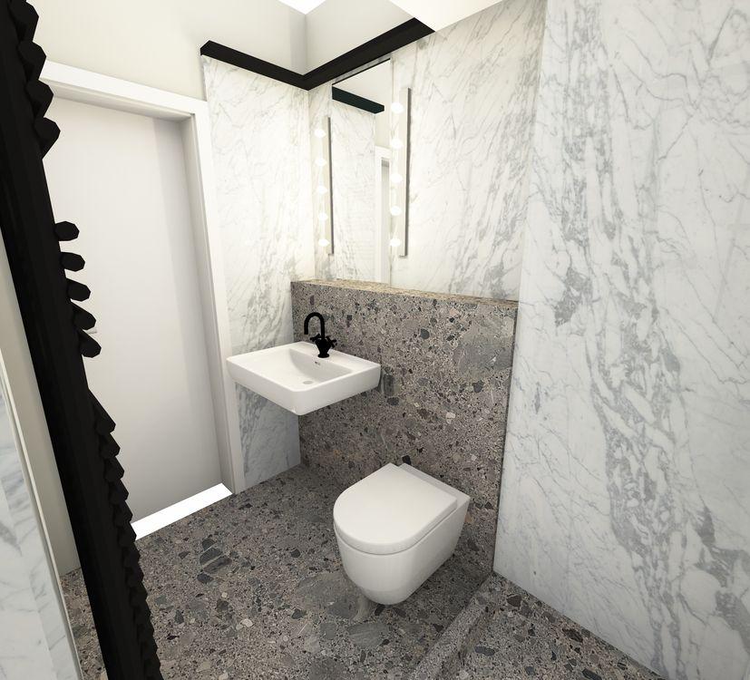 Terrazzo Naturstein Bad Design